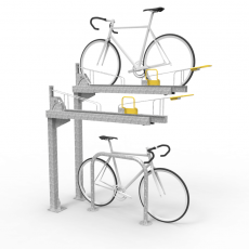 e3dt cbr two tier rack perspective with bikes
