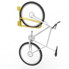 e3vr 45r angled vertical bike rack with bike perspective