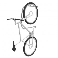 cvr3 vertical bike rack galvanised with bike perspective v2