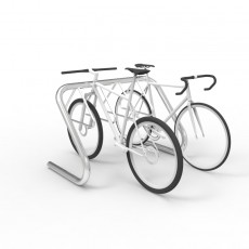 expo 4506 stainless bike rack 5 7 capacity bikes perspective