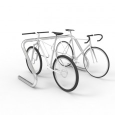 expo 1500 stainless bike rack 5 8 capacity bikes perspective