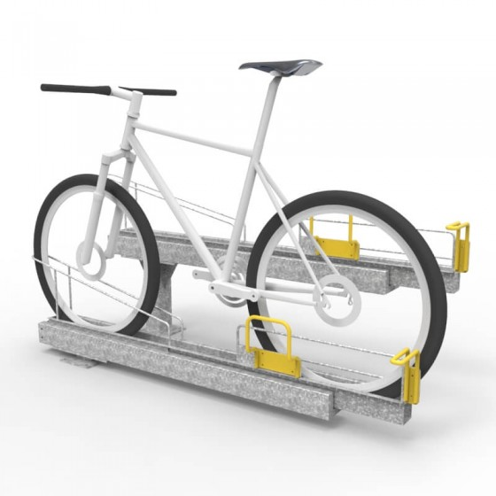e3gt dynamic bike rack with bike perspective