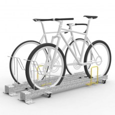 e3gp dynamic bike rack front in perspective