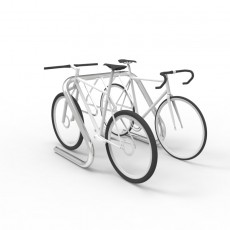 expo 3606 stainless bike rack 4 6 capacity bikes perspective